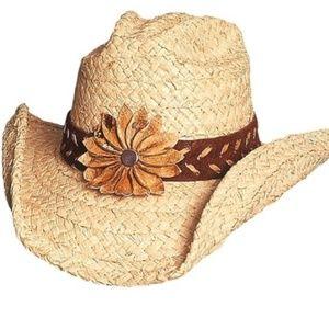 "Montecarlo ""Sassy Cowgirl Sunset"" Straw Cowboy Hat"